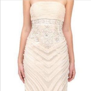Sue wong champagne colored gown